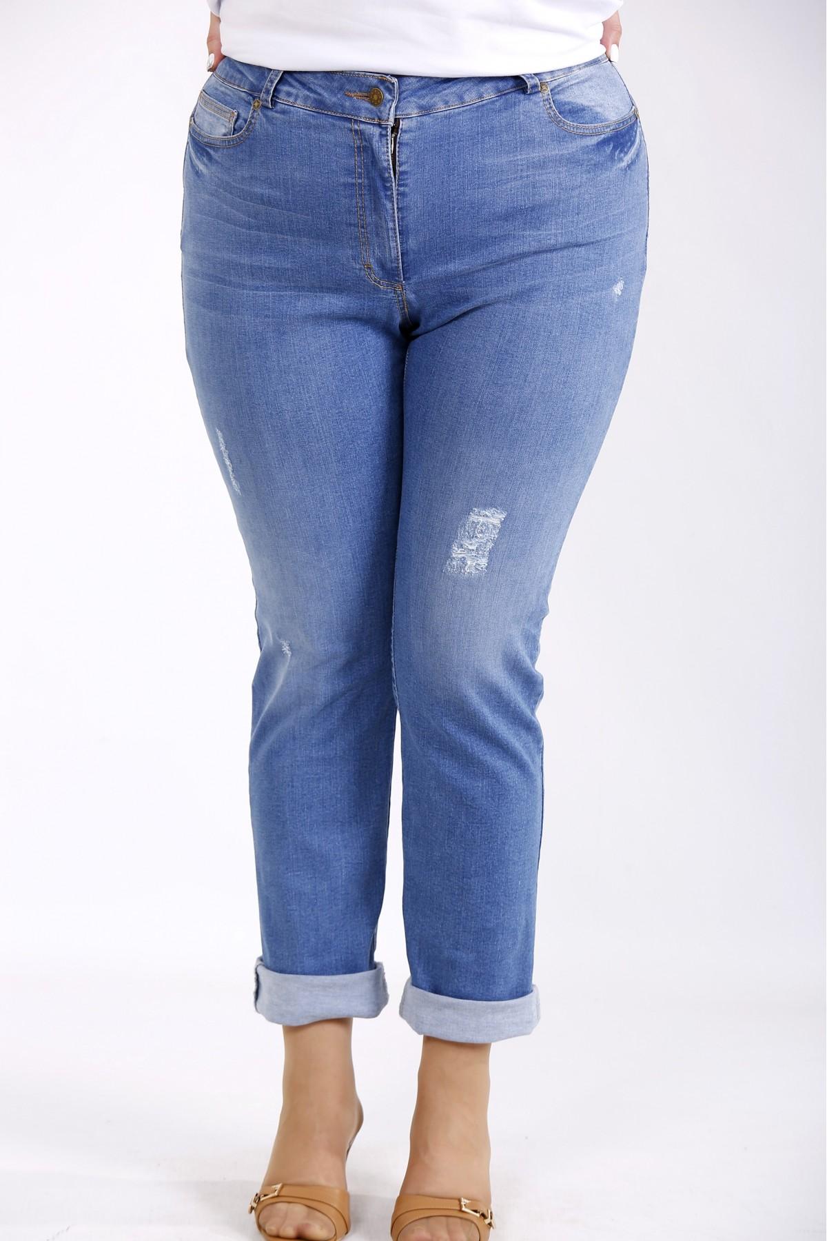 j-048   Синие модные джинсы