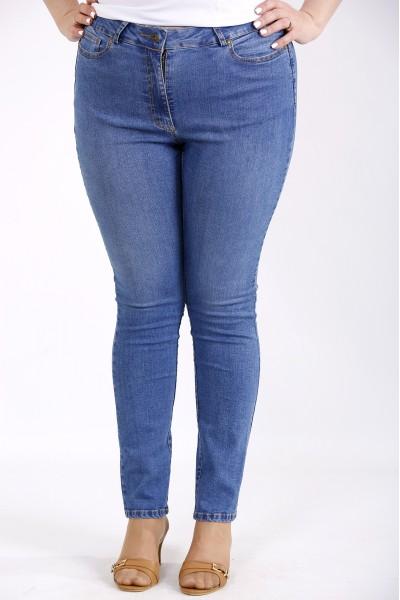 j050 | Синие простые джинсы по щиколотку