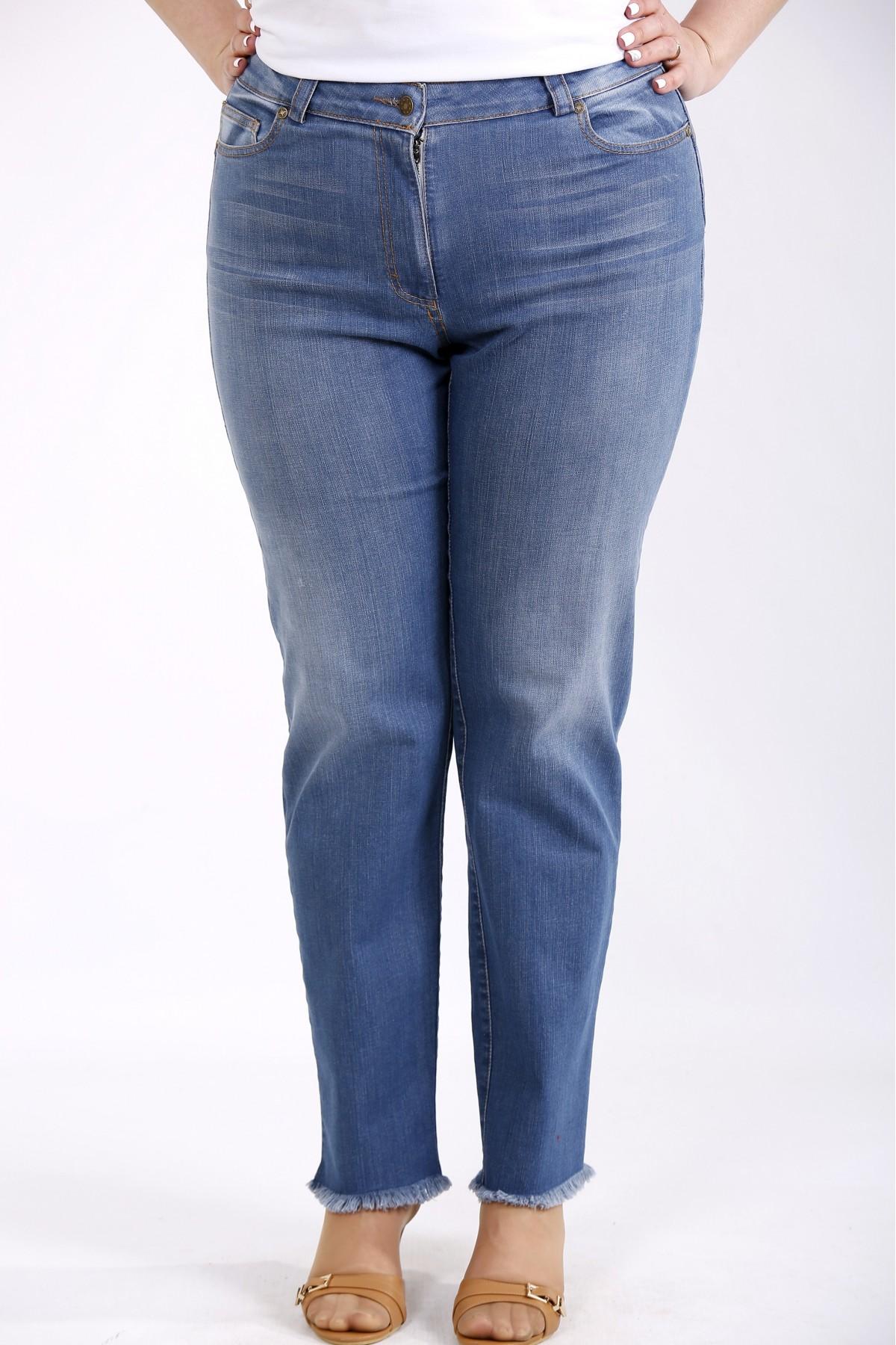 j-052   Синие джинсы немного расширенные