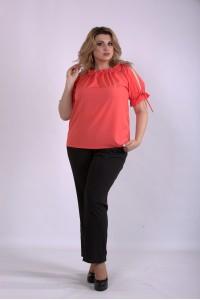 01146-3 | Комплект: коралловая блузка и брюки