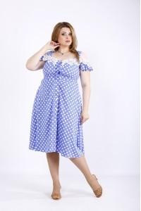 01171-3 | Платье в горох электрик