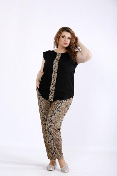 01197-3 | Комплект: штаны и блузка с принтом питон