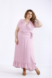 01205-3 | Красивое платье фрезия в горох
