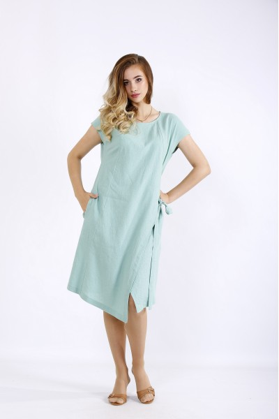 01218-1 | Асимметричное платье шалфей
