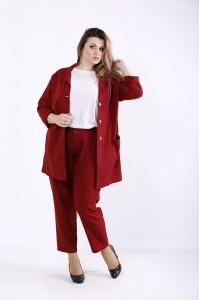 01270-2 | Модный бордовый костюм: брюки и пиджак