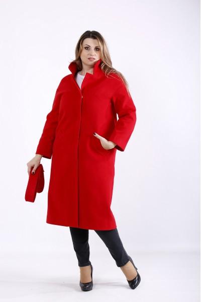 t01268-1 | Стильное красное кашемировое пальто