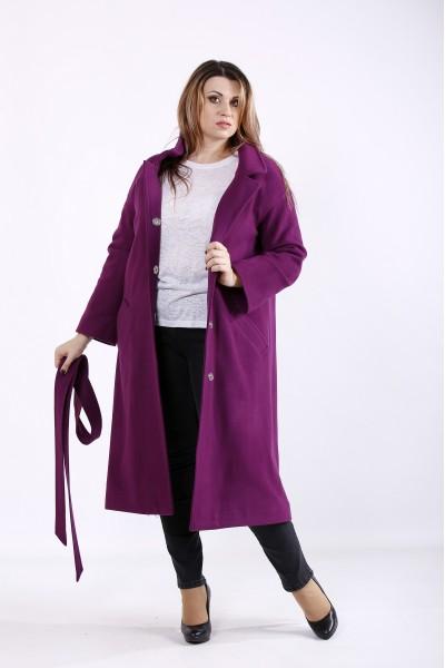 t01268-3 | Фиолетовое пальто с карманами