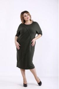 01286-3 | Свободное платье хаки