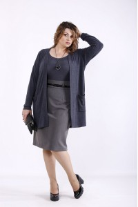 01292-2 | Синий комплект: накидка и блузка