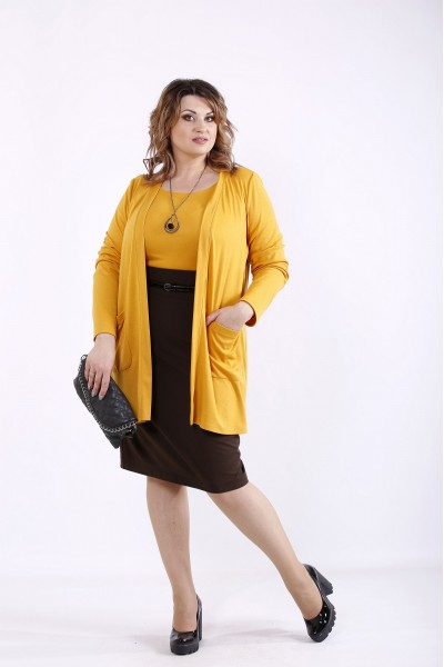 01292-3 | Оранжевый комплект: накидка и блузка