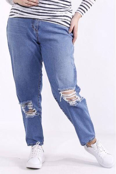 j063 | Голубые джинсы с порванными коленками