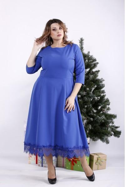 01338-1   Длинное платье электрик
