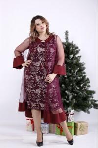 01340-3 | Бордовое нарядное платье