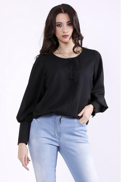 01350-1 | Черная стильная блузка