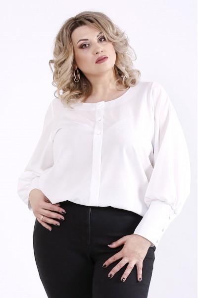 01350-2   Белая нарядная блузка