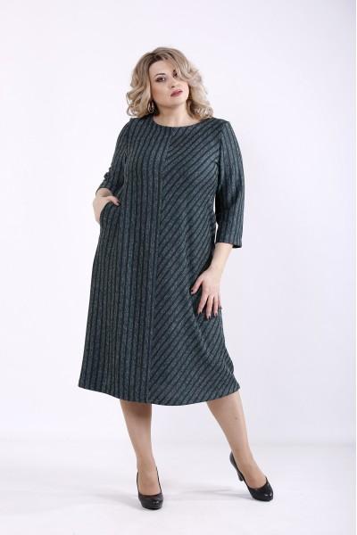 01355-2 | Зеленое платье из ангоры