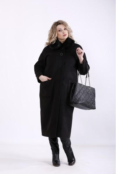 t01362-1 | Черное кашемировое пальто (разные версии)