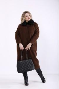 t01362-3 | Коричневое пальто из кашемира (разные версии)