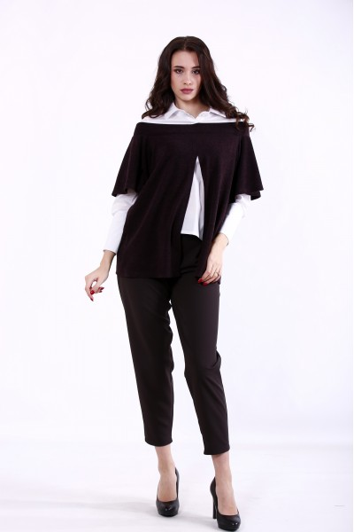 01381-1 | Шоколадный костюм: блузка и брюки