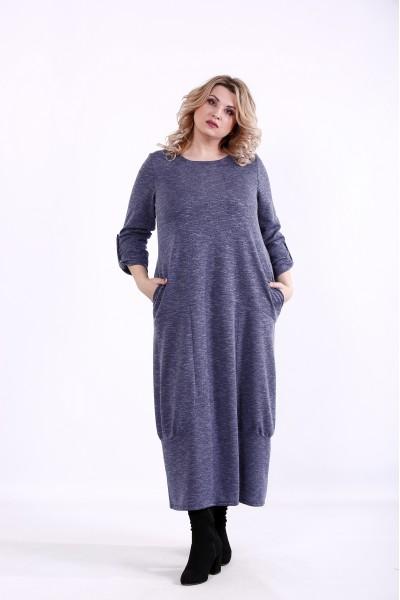 01384-1 | Синее свободное платье
