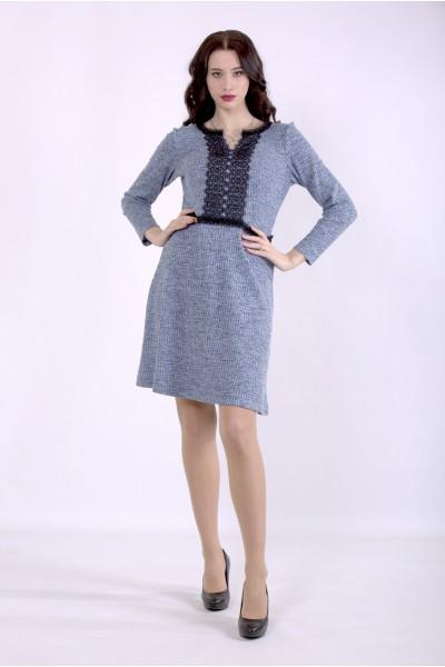01397-1 | Голубое платье меланж