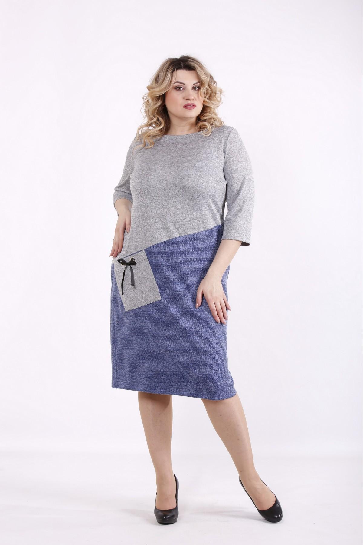 01409-2 | Серо-джинсовое платье