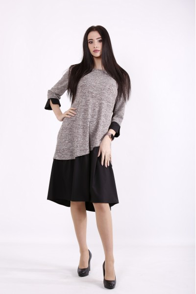 01425-1 | Светлое с черным платье