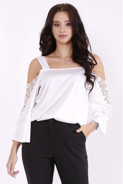 01565-1 | Молочная шелковая блузка