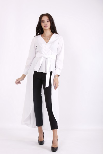 01568-1 | Белая блузка-туника