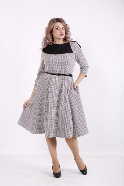01573-1 | Платье-колокол пудра с черным