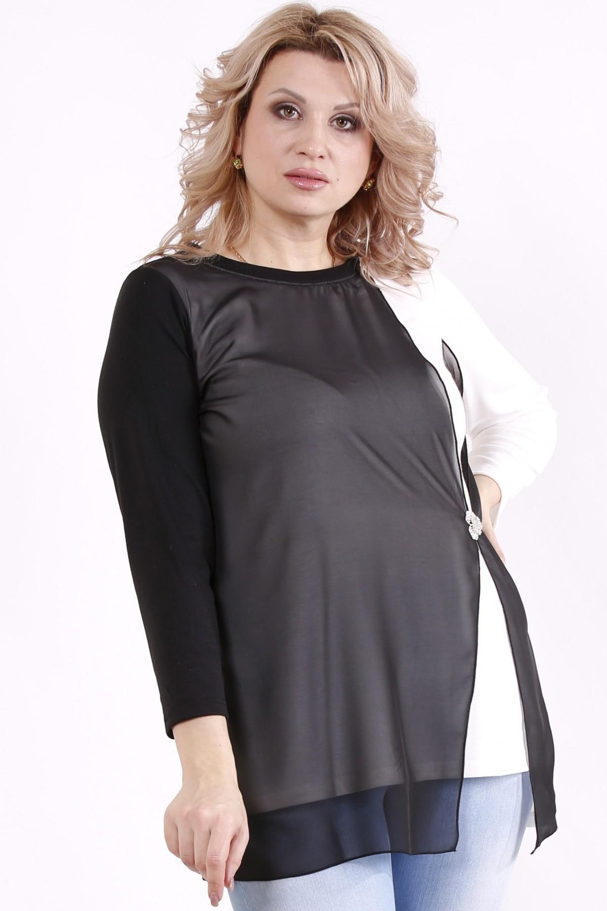 01714-2   Молочная блузка с шифоном