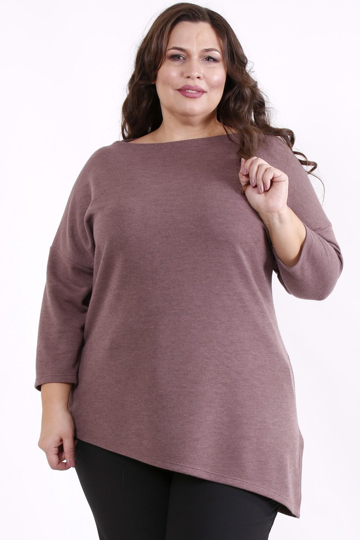 01716-2   Бисквитная асимметричная блузка