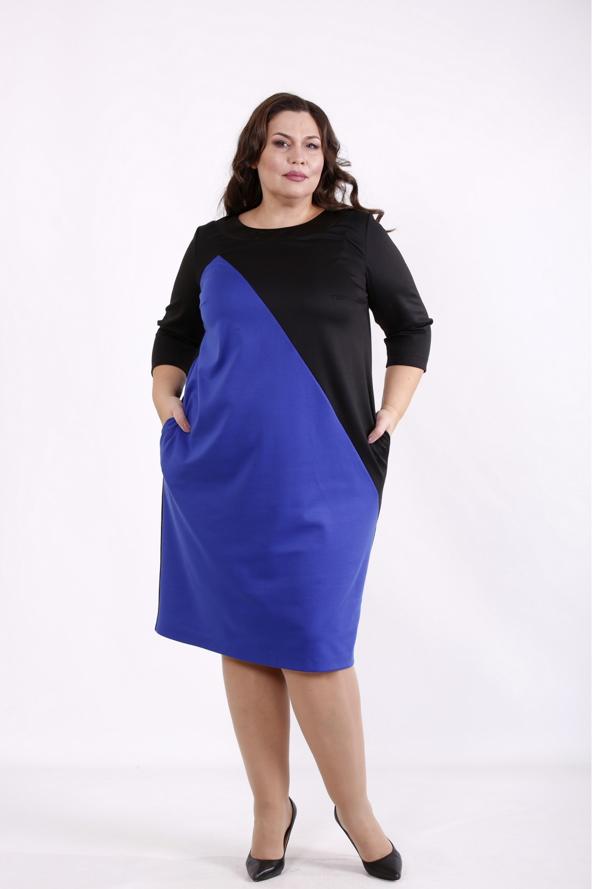 01721-1   Черно-синее платье