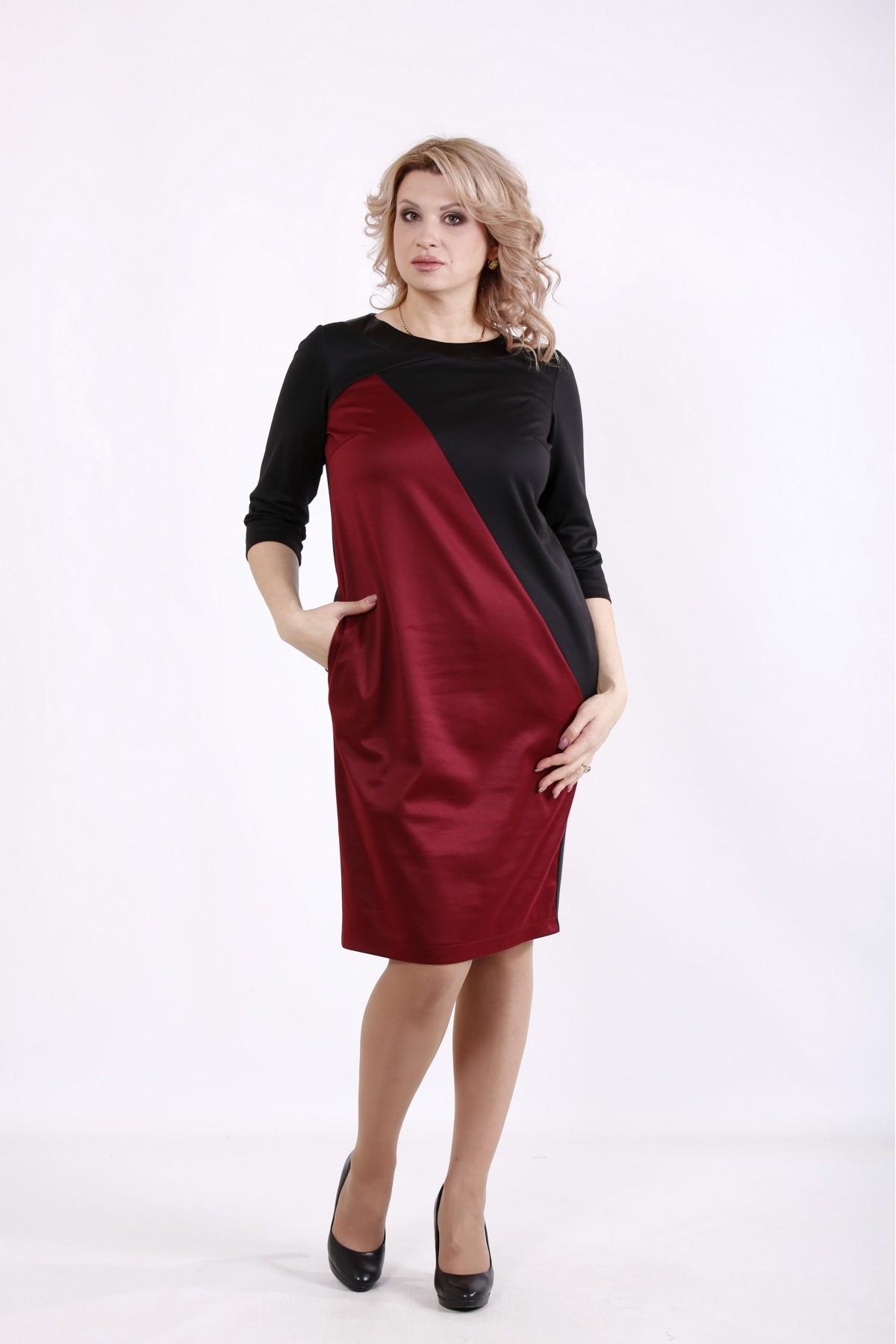 01721-2   Черно-бордовое платье
