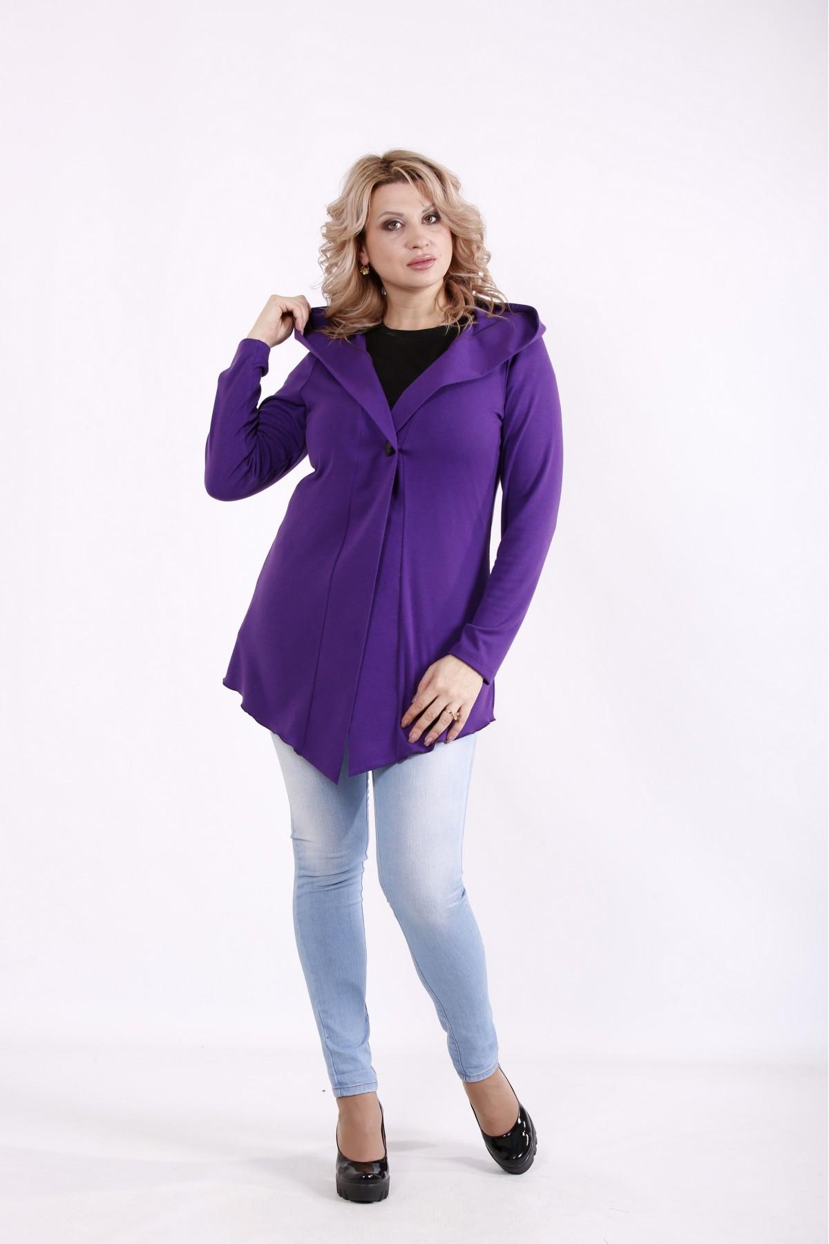 01723-3   Фиолетовая кофта с капюшоном