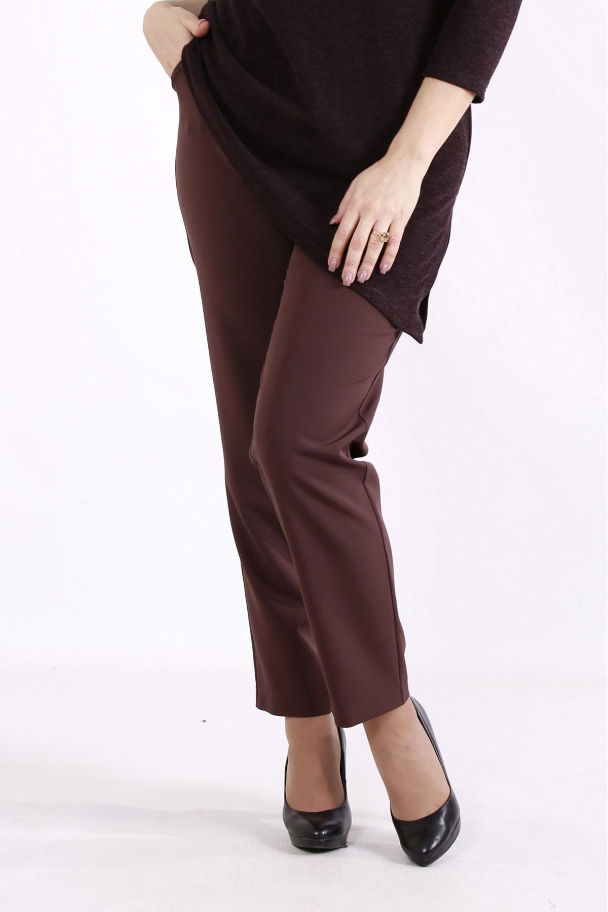 b083-5   Шоколадные брюки