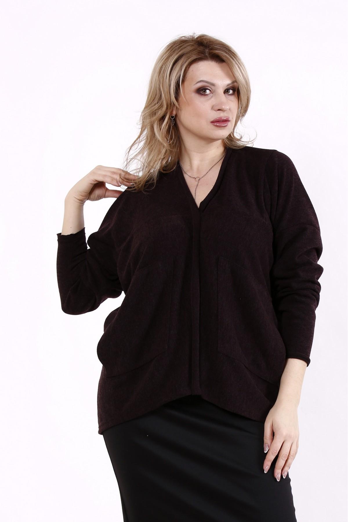 01745-3 | Шоколадная блузка из ангоры